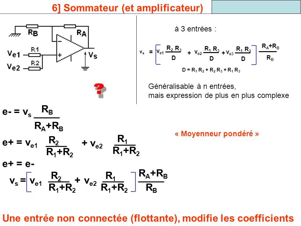 6] Sommateur (et amplificateur)